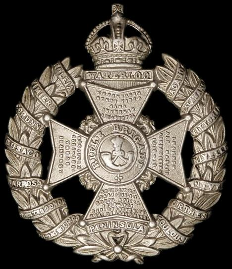 WW1 Rifle Brigade Cap Badge.