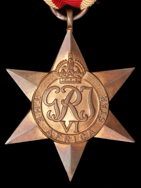 The Africa Star, British Second World War Campaign Medal.