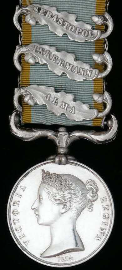 BRITISH CAVALRY ARMY THE CRIMEA MEDAL CLASP or RIBBON BAR AZOFF SILVER